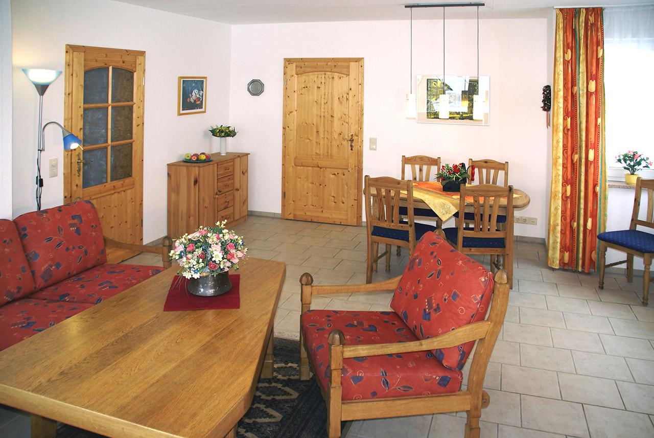 Wohnzimmer - Fewo Langhammer